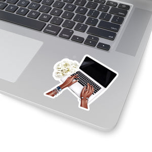 Self Made Girl Boss Laptop Dark Skin Vinyl Sticker Decal