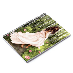 Forest Fiarytale Medium Skin Brown Hair Spiral Notebook - Ruled Line - Planner Press Designs