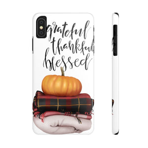 iPhone X Pumpkin Greatful Case Mate Slim Phone Cases