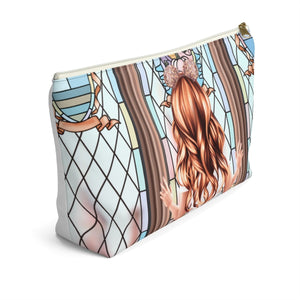 Take Me To The Castle Light Skin Red Hair Accessory Pouch with T-bottom - Pencil Case
