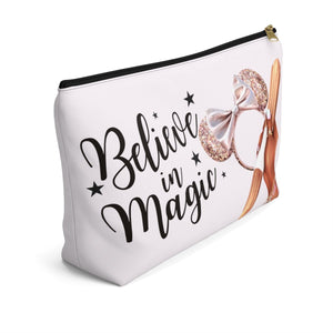 Believe In Magic Disney Pouch Dark Skin Accessory Pouch with T-bottom - Pencil Case - Planner Press Designs