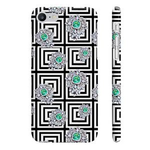 Emeralds iPhone Case - Protective Phone Cover - Planner Press Designs