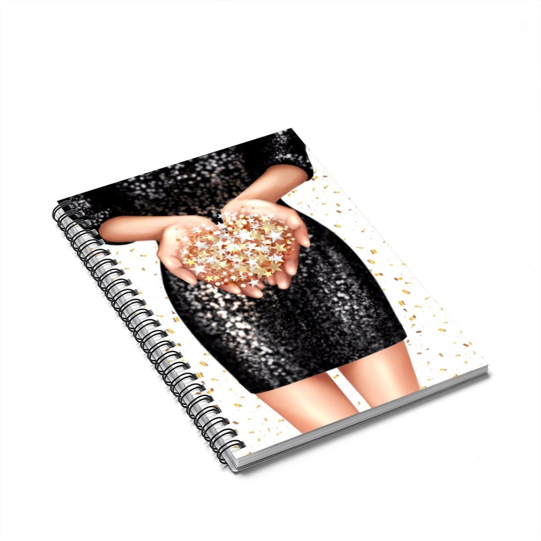 Confetti Girl Light Skin Spiral Notebook - Ruled Line