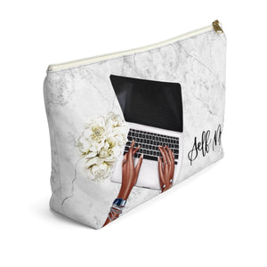 Self Made Girl Boss Dark Skin Accessory Pouch with T-bottom - Pencil Case