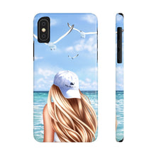 Load image into Gallery viewer, iPhone X Day At The Beach Light Skin Blonde Hair Case Mate Slim Phone Cases