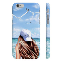 Load image into Gallery viewer, Beach Days Fair-Skin Brown Hair iPhone Case - Protective Phone Cover - Planner Press Designs