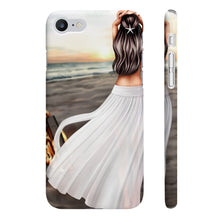 Load image into Gallery viewer, Bonfires and Beaches - Fair Skin Brown Hair iPhone Case - Protective Phone Cover - Planner Press Designs