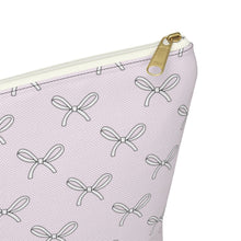 Load image into Gallery viewer, All The Bows Blush Accessory Pouch with T-bottom - Pencil Case - Planner Press Designs