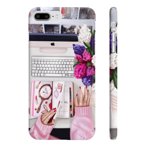 Girl Boss Desk Light Skin iPhone Case - Protective Phone Cover - Planner Press Designs