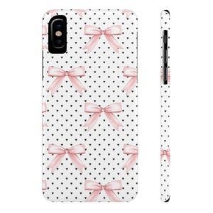 iPhone X Bows and Hearts Case Mate Slim Phone Cases