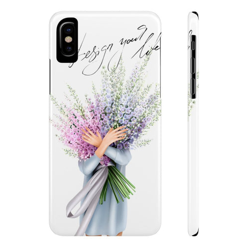 iPhone X Spring Flowers Light Skin Case Mate Slim Phone Cases