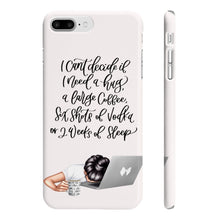 Load image into Gallery viewer, I'm Too Tired Light Skin Black Hair iPhone Case - Protective Phone Cover