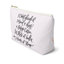 Load image into Gallery viewer, Tired Mondays Light Skin Black Hair Accessory Pouch with T-bottom - Pencil Case