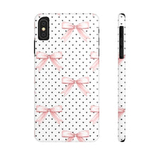 Load image into Gallery viewer, iPhone X Bows and Hearts Case Mate Slim Phone Cases