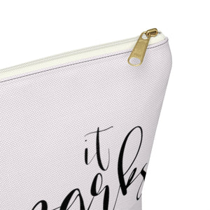 It Sparks Joy Planner Accessory Pouch with T-bottom - Pencil Case