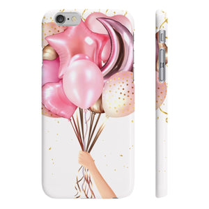 Pink Balloons Fair Skin iPhone Case - Protective Phone Cover - Planner Press Designs