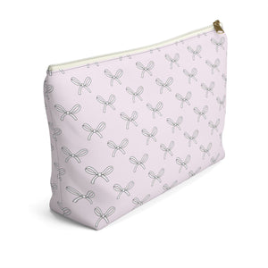 All The Bows Blush Accessory Pouch with T-bottom - Pencil Case - Planner Press Designs