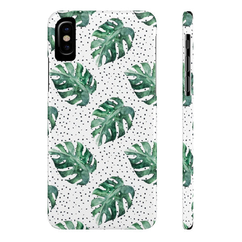 iPhone X Tropical Leaves Case Mate Slim Phone Cases