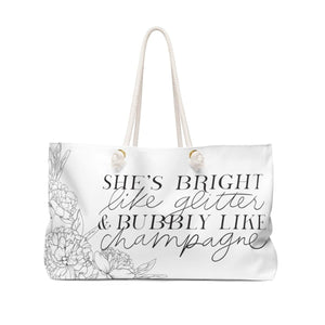 Bubbly Weekender Bag - Weekend Tote Bag - Planner Press Designs
