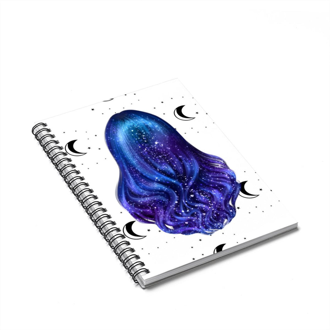 Galaxy Hair Spiral Notebook - Ruled Line