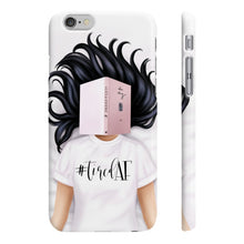 Load image into Gallery viewer, Tired AF Light Skin Black Hair iPhone Case - Protective Phone Cover