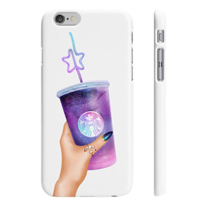Galaxy Coffee Light Skin iPhone Case - Protective Phone Cover - Planner Press Designs