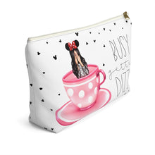 Load image into Gallery viewer, Busy Gettin Dizzy Light Skin Black Accessory Pouch with T-bottom - Pencil Case - Planner Press Designs