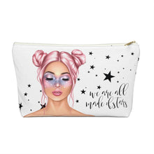 Load image into Gallery viewer, Galaxy Girl Light Skin Pink Hair Accessory Pouch with T-bottom - Pencil Case