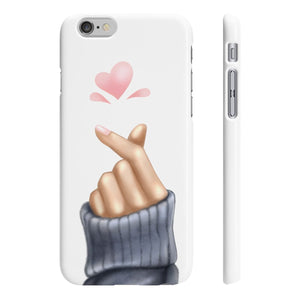 Love Korean Heart iPhone Case - Protective Phone Cover