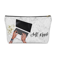 Load image into Gallery viewer, Self Made Girl Boss Medium Skin Accessory Pouch with T-bottom - Pencil Case