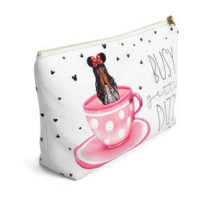 Busy Gettin Dizzy Dark Skin Black Hair Accessory Pouch with T-bottom - Pencil Case - Planner Press Designs