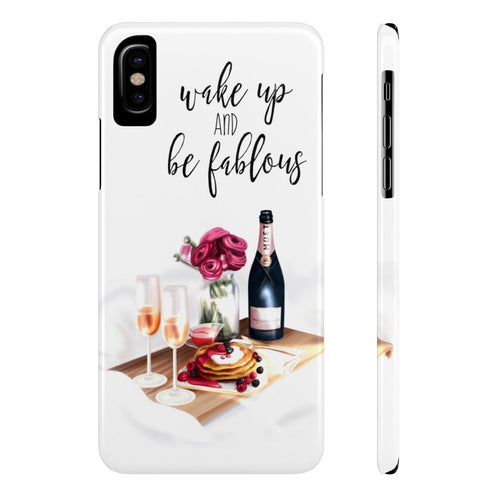 iPhone X Wake Up And Be Fabulous Case Mate Slim Phone Cases