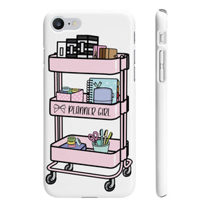 Planner Girl Cart iPhone Case - Protective Phone Cover