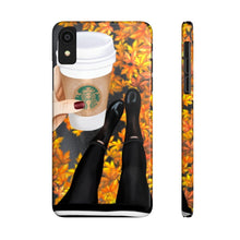 Load image into Gallery viewer, iPhone X Fall Leaves and Coffee Light Skin Case Mate Slim Phone Cases
