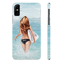 Load image into Gallery viewer, iPhone X Surfer Girl Light Skin Red Hair Case Mate Slim Phone Cases