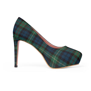 Winter Plaid Women's Platform Heels