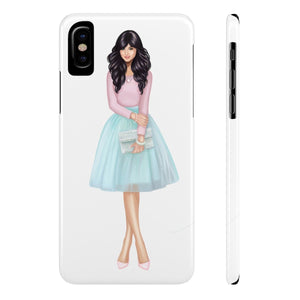 iPhone X Sweet Day Light Skin Black Hair Case Mate Slim Phone Cases
