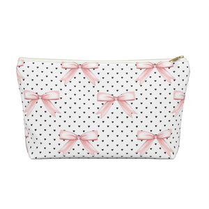 Bows and Hearts Accessory Pouch with T-bottom - Pencil Case - Planner Press Designs