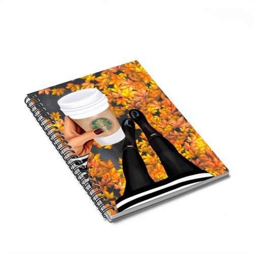 Time For Coffee Medium Skin Spiral Notebook - Ruled Line