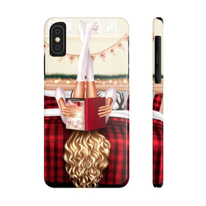 iPhone X Cozy Winter Reading Light Skin Blonde Hair Case Mate Slim Phone Cases
