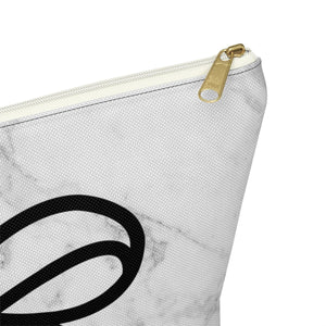 Marble and Bows Accessory Pouch with T-bottom - Pencil Case