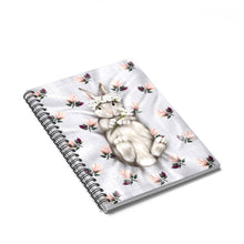 Load image into Gallery viewer, Bunny Princess Spiral Notebook - Ruled Line