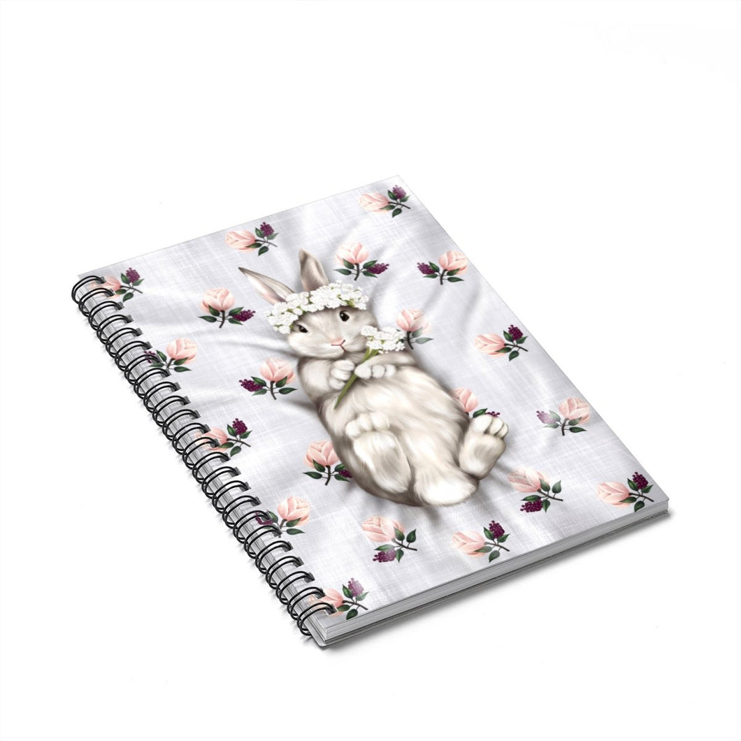 Bunny Princess Spiral Notebook - Ruled Line