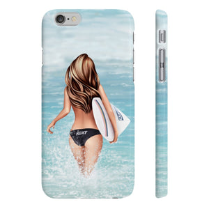 Surfer Girl iPhone Case - Protective Phone Cover - Planner Press Designs