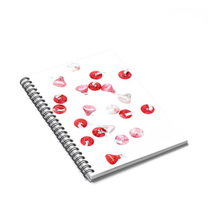 Sweet Treats Valentines Spiral Notebook - Ruled Line