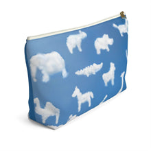 Load image into Gallery viewer, Animal Clouds Accessory Pouch with T-bottom - Pencil Case - Planner Press Designs