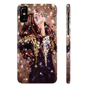 iPhone X Dancing In The Moment Light Skin Brown Hair Case Mate Slim Phone Cases