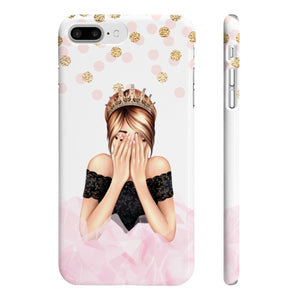 Birthday Girl Light Skin Red Hair iPhone Case - Protective Phone Cover - Planner Press Designs