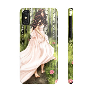 iPhone X Enchanted Forest Light Skin Brown Hair Case Mate Slim Phone Cases