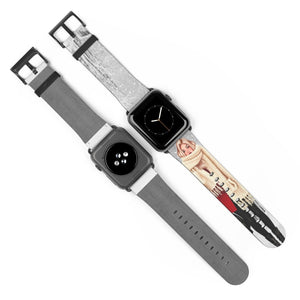 Winter Wonderland Light Skin Blonde Hair Watch Strap - Apple Watch Replacement Watch Band